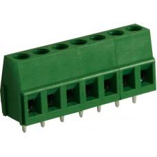 PCB Terminal Block Toonhoogte 5 mm Horizontaal 7P