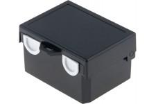 Kunststof behuizing 122 x 91 x 69 mm Zwart ABS IP00