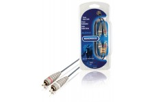 Stereo Audiokabel 2x RCA Male - 2x RCA Male 1.00 m Blauw