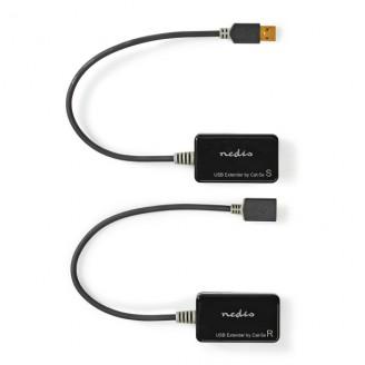 USB 2.0 Actieve Verlengkabel | A Male - A Female | 50,0 m | Zwart