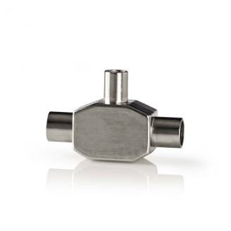 Adapter Coax | IEC (coax) male - 2x IEC (coax) female