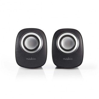 PC-Speaker   2   12 W   Input: 1x 3,5 mm   USB Gevoed   Volumebediening