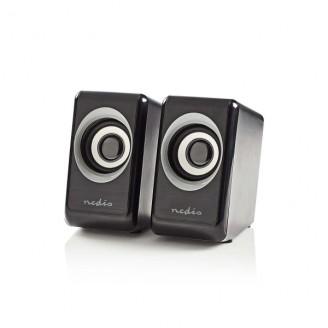 PC-Speaker   2   18 W   Input: USB A Male / 1x 3,5mm   USB Gevoed   Volumebediening   Output