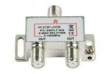 Satelliet Splitter Televisie F-Splitter 4.2 dB / 5-1000 MHz - 2 Uitgangen