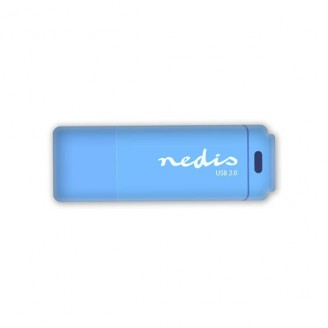 USB 2.0-stick | 64GB | 12 Mbps lezen / 3 Mbps schrijven | Blauw