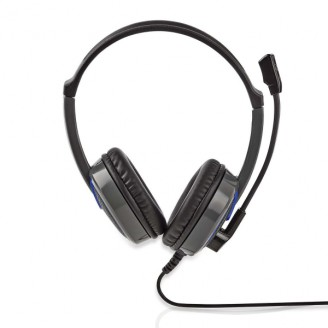 Gaming Headset   Over-Ear   Stereo   2x 3.5 mm   Opvouwbare Microfoon   2.20 m   Normale Verlichting
