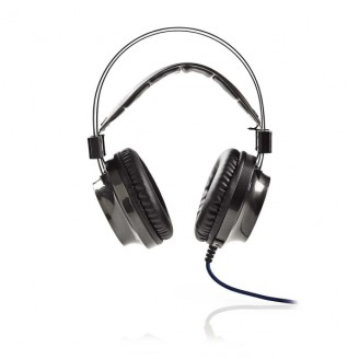 Gamingheadset   Over-Ear   Force-Feedback   LED-Verlichting   3,5-mm & USB-Connectoren