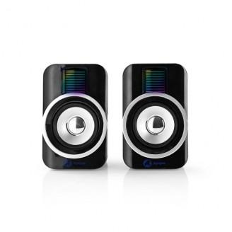 Gaming-luidsprekers   2.0   RGB   Over USB gevoed   3,5 mm jack   RMS 10W