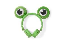 Bedrade Koptelefoon | 1,2 m Ronde Kabel | On-Ear | Afneembare Magnetische Oren | Freddy Frog | Groen