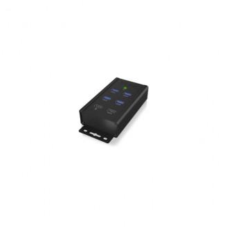 4 Poorten Hub USB 3.0 Zwart