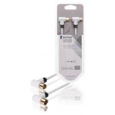 120 dB Coaxkabel Haaks Coax Male (IEC) - Coax Female (IEC) 3.00 m Wit