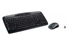 Draadloze Muis en Keyboard Multimedia US International Zwart/Zilver