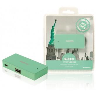 4 Poorten Hub USB 2.0 Groen