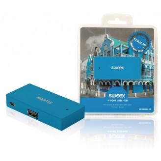 4 Poorten Hub USB 2.0 Blauw