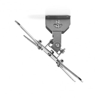Plafondbeugel voor Projector | 360° Draaibaar | Max. 10 kg | Afstand tot de Muur van 130 mm | Grijs