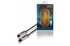 Digitale Audiokabel TosLink Male - TosLink Male 1.00 m Antraciet