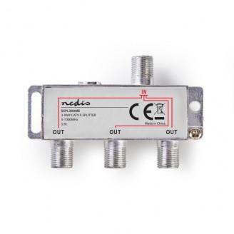 CATV F-Splitter | Max 6,8 dB demping | 5 - 1000 MHz | 3 uitgangen