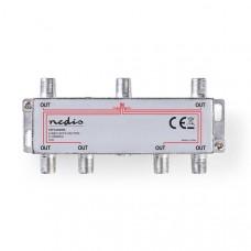 CATV F-Splitter | Max 10 dB demping | 5 - 1000 MHz | 6 uitgangen
