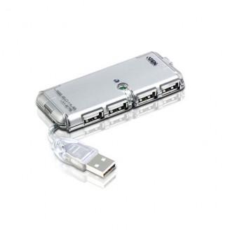 4 Poorten Hub USB 2.0 Computer Zilver
