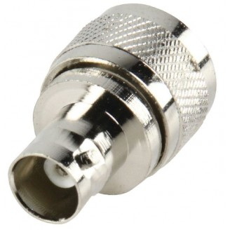 Antenne Adapter PL259 Male - BNC Female Zilver