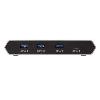 4 Poorten Hub USB-Desktop Aluminium/Zwart