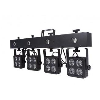 DJ BAR - 16 x 8 W RGBW 4-in-1 + 4 x 1 W LED-STROBOSCOOP - COMPACT