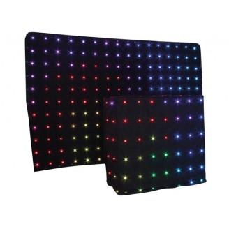 DUAL LED STARCLOTH III - 2 X 3 m RGB-STERRENGORDIJN + DJ STARDROP -2 x 1,22 m RGB