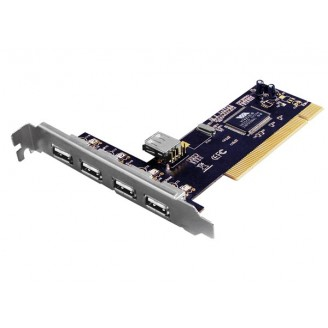EMINENT - 4+1-POORTS PCI-KAART USB 2.0